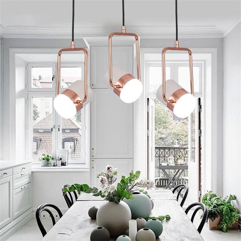 Up&Down Adjustable Pendant Lights Home Decor Novelty Hanging Lamp Loft Bar Showcase Spotlight Lamparas de Techo Colgante Moderna
