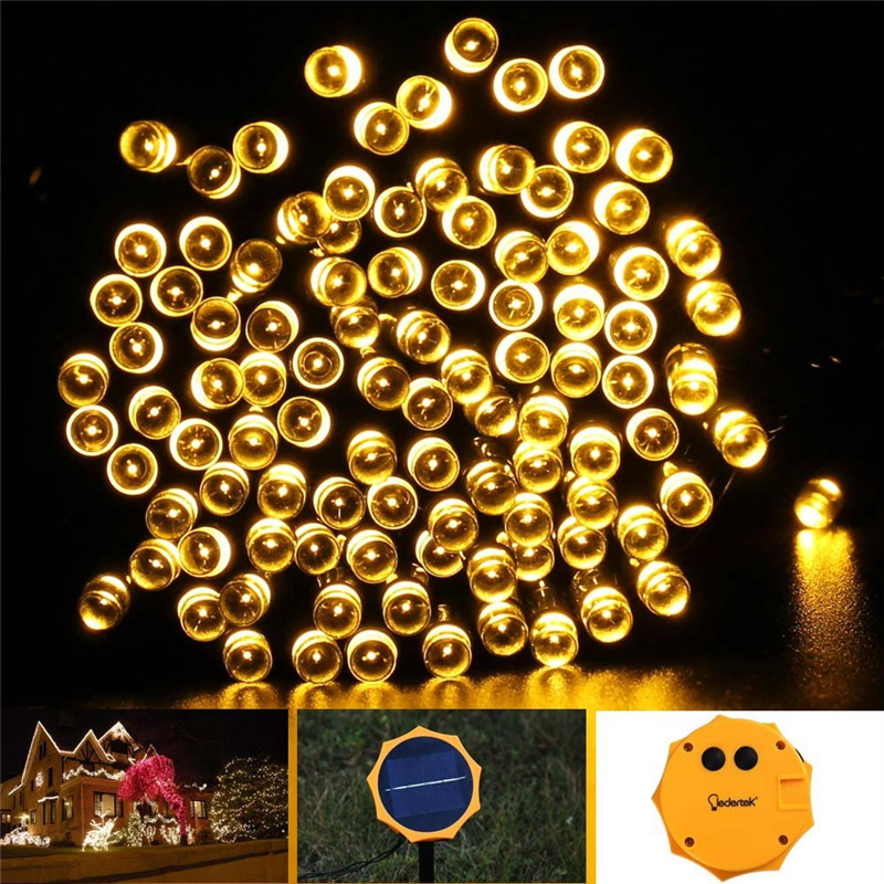 Sun Flower Outdoor Lighting Solar Lamp 22M 200 LED 8 Modes Waterproof LED String Fairy Lights Solar Light For Garden Decoration