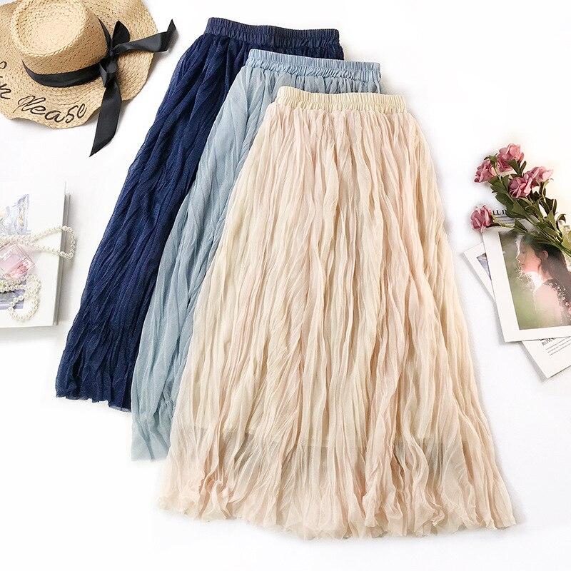 Sherhure 2019 Summer Women Skirts Stretch High Waist Women A-Line Midi Skirt Faldas Jupe Femme Boho Women Skirt Saia