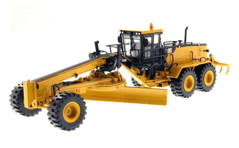 DM 1:50 Caterpillar Cat 24M Motor Grader Elite Series Engineering Machinery 85264C Diecast Toy Model for Collection,Decoration