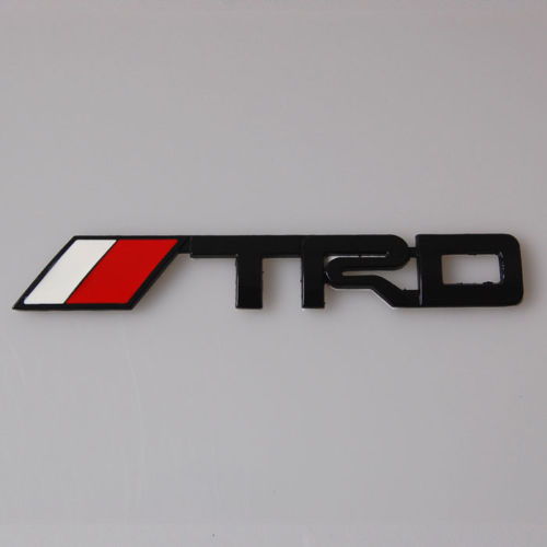 Black TRD Car Body Badge Emblem Decal Sticker Metal Fit For Toyota Supra Prius Vois Coroll jockomo p50 gb16 inlay sticker decal for guitar bass body twisted snake made in japan