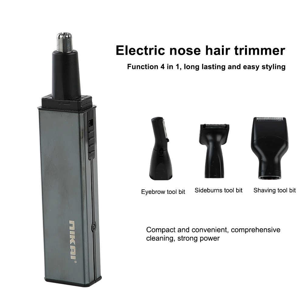 二階多機能電動鼻毛トリマー 4 イン 1 ミニシェーバーほおひげと眉毛キット