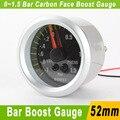 52 мм Бар Turbo Boost Датчик С Датчиком Автомобиль Метр Машин 52 мм Углеродного Волокна Автомобилей Turbo Boost Метр Автоматический Измерительный Прибор YC100032