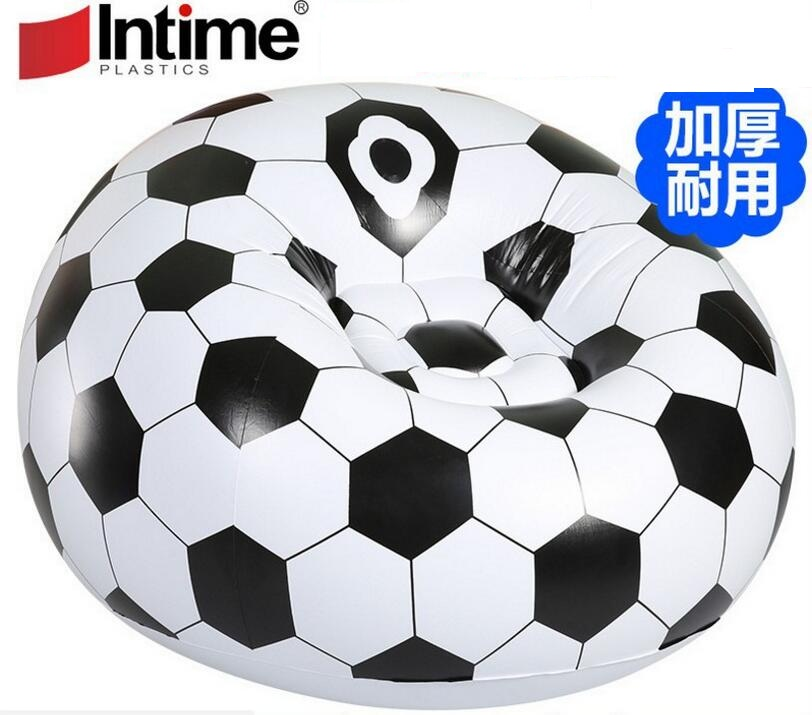 extra large flocking pvc inflatable lazy football basketball sofa small household single sofa,soccer ball big size adults sofa