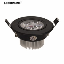 hot deal buy 3w 4w 5w led downlights recessed downlight dimmable led lighting black shell angle-adjustable + ac110 220v driver