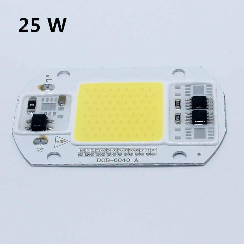 Chip de bombilla LED COB 15W 25W 40W 50W Chip LED 110V 220V entrada IP65 ajuste IC inteligente para luz de inundación LED DIY blanco frío cálido