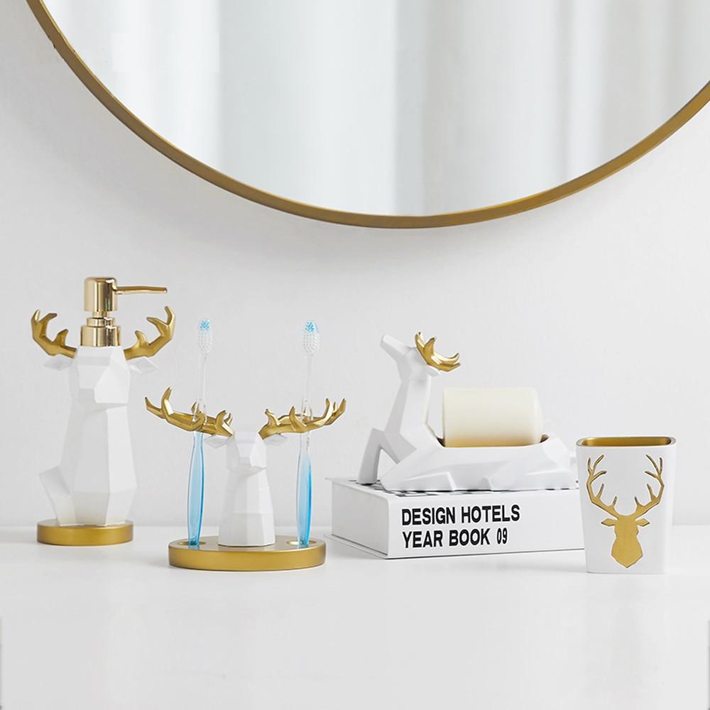 European creative housewarming wedding gift bathroom four-piece suit dental bathroom wash set LO881102 european creative housewarming wedding gift bathroom four piece suit dental bathroom wash set lo881102