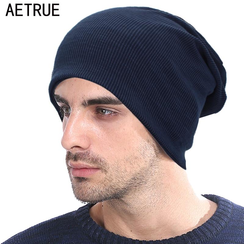 AETRUE Autumn   Beanie   Scarf Men Knitted Hat Women Winter Hats For Men   Skullies     Beanies   Bonnet Solid Warm Mask Soft Ring Caps Hats