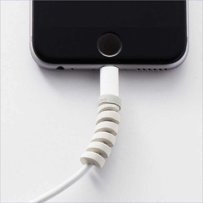 Flessibile Tubo A Spirale Avvolgicavo Protezione del Cavo Del Legare Organizzatore Protetor per Apple Orologio iPhone Cavo di Ricarica spedizione gratuita