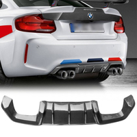 UHK Carbon Fiber Rear Diffuser For BMW F87 M2 M Performance Car Racing Splitter 2016 2017 Bodykit Accessories