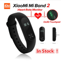 IN STOCK! 100%Original Xiaomi Mi Band 2 Miband2 Wristband Smart Bracelet with Smart Band Heart Rate Fitness Touchpad OLED Screen
