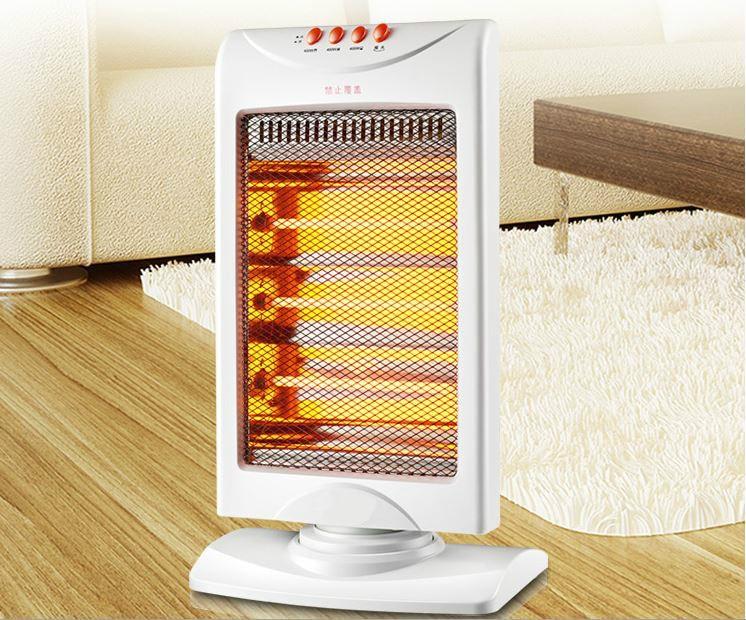 sun heater sets the electric heating fan in office sun