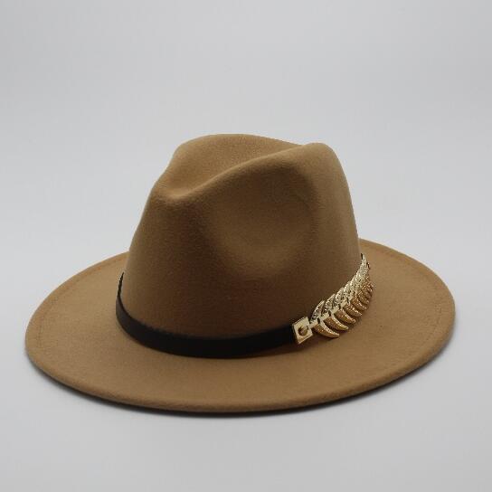 6b16f02b168 Special Felt Hat Men Fedora Hats with Belt Women Vintage Trilby Caps ...