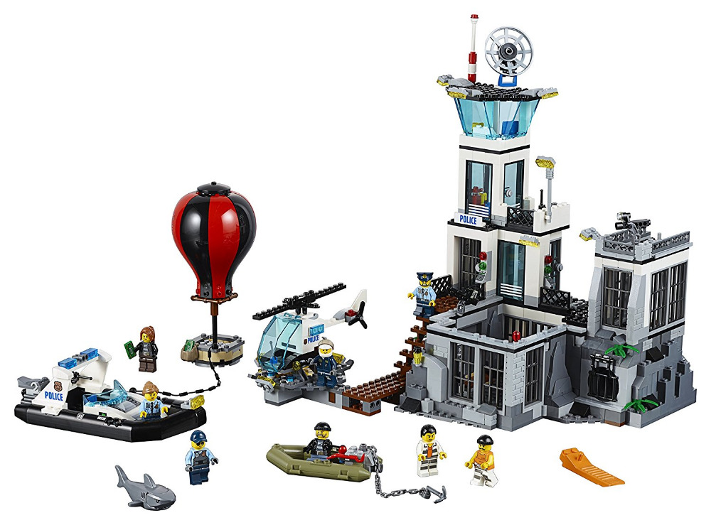LEPIN CITY Prison Island Building Blocks Sets Bricks Kids Model Kids Toys For Children Marvel Compatible Legoe lepin 02006 815pcs city series police sea prison island model building blocks bricks toys for children gift 60130