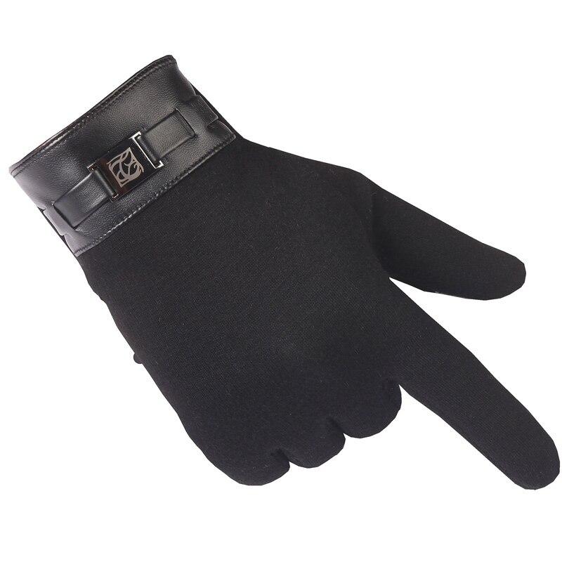 Guantes de invierno para hombre guantes cálidos de Cachemira de moda para hombre guantes de pantalla táctil invierno para teléfono móvil inteligente tableta almohadilla guante