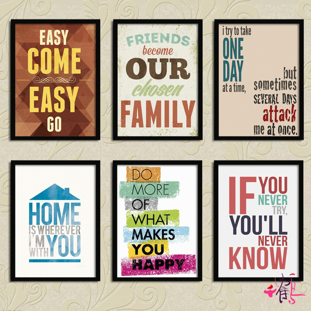 33X43CM English Words, Posters, Home Decoration, Decorative Painting,  Living Room, Modern