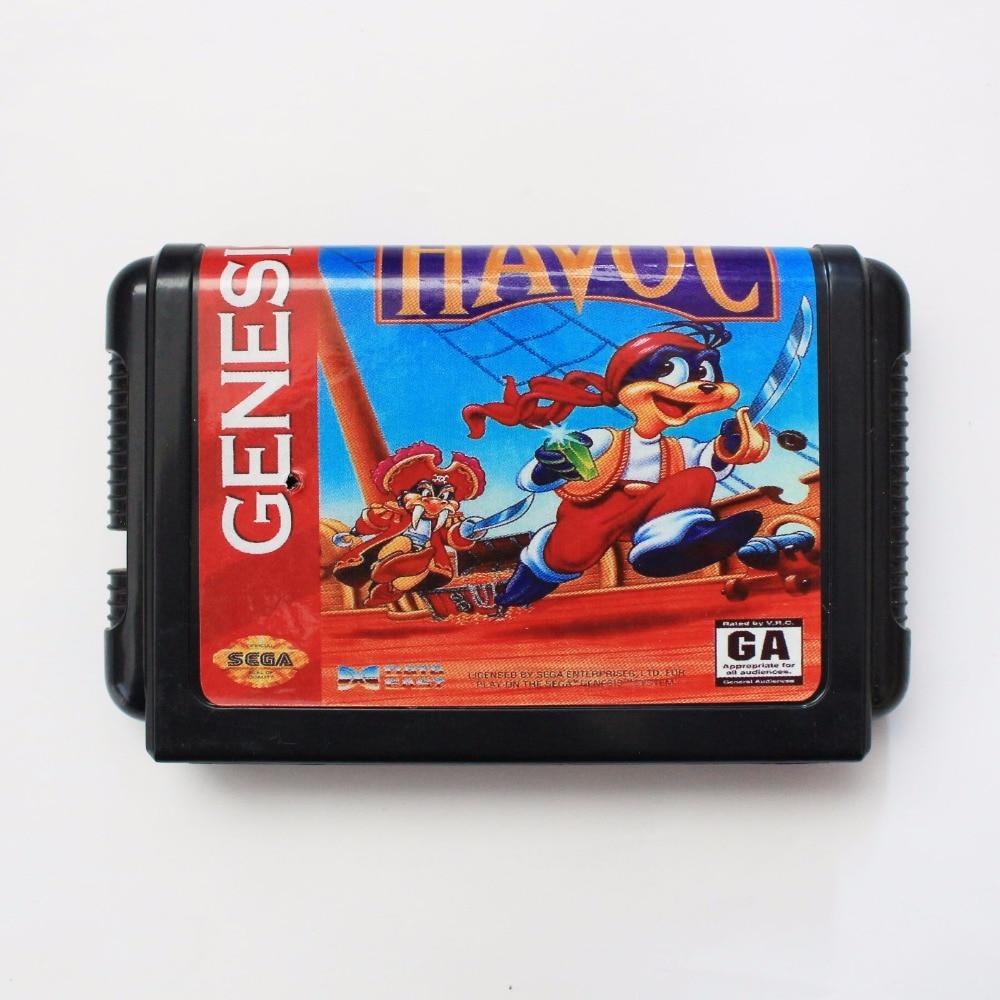 Havoc 16 bit SEGA MD Game Card For Sega Mega Drive For Genesis
