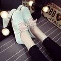 Mulheres Sapatos de Verão 2016 Sapatos Outono Plana Quente Sólido Branco Mulheres Casuais sapatos Baixos de Lona rendas Sapatos para As Mulheres Mujer Zapatillas Tamanho 40