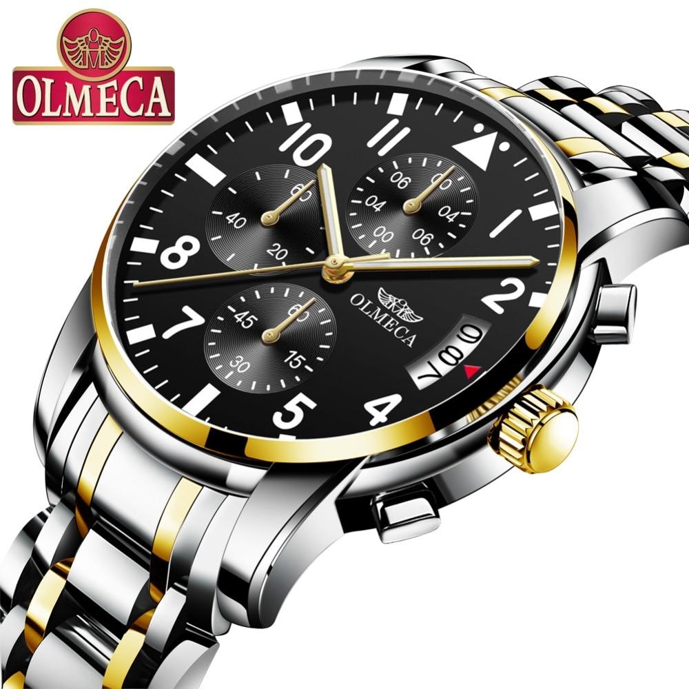 OLMECA Hombres Relojes de pulsera de Cuarzo Ocasional Cronógrafo - Relojes para hombres