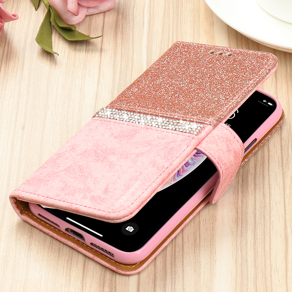HTB1uhPNX1P2gK0jSZFoq6yuIVXa6 - Bling Glitter Wallet Phone Case For iPhone X Xr Xs 11 Pro Max Leather Purse For Apple 6S 6 8 7 Plus 5 5S SE 2020 360 Girls Cover