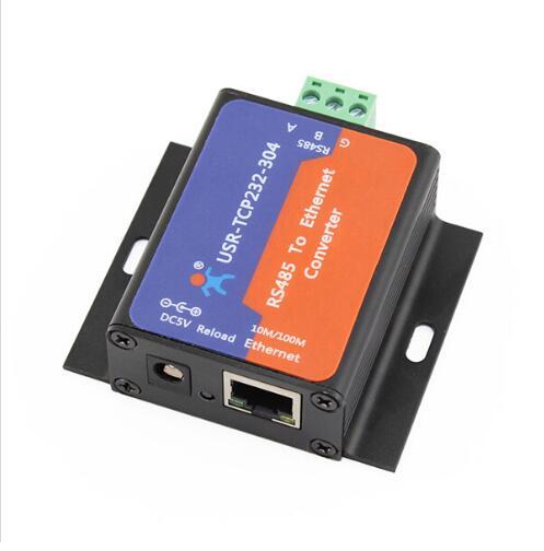 USR-TCP232-304 RS485 Serial para TCP IP Ethernet Módulo Conversor com Web Embutido Servidor DHCP/DNS Suportados