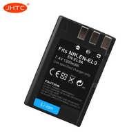 Batterie EN EL9 Pour Nikon EN-EL9a D40 D60 D40X D5000 D30 Batterie 1300mAh EN-EL9 Piles Rechargeables En-El9a