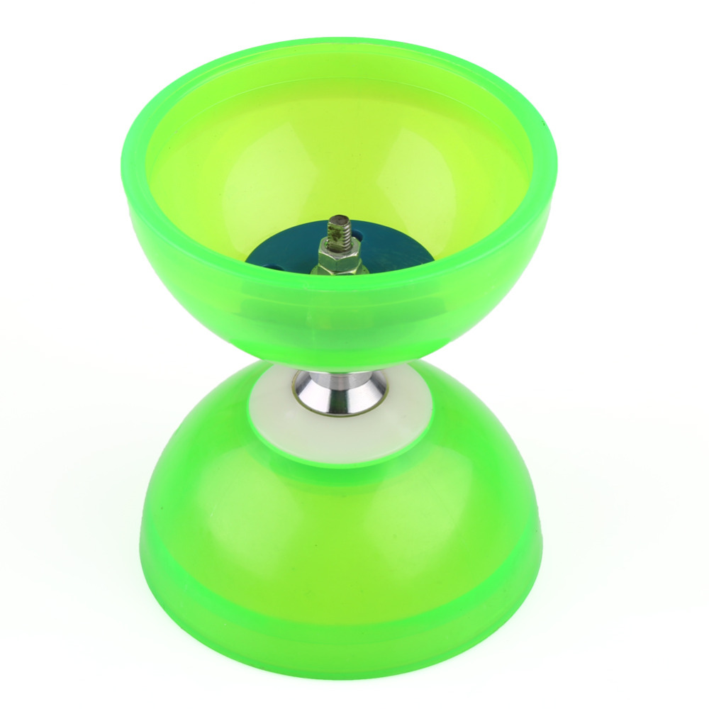 New Chinese YOYO 3 Bearing Clutch Diabolo Set Metal Sticks String Bag Sticks Toys Blue / Green