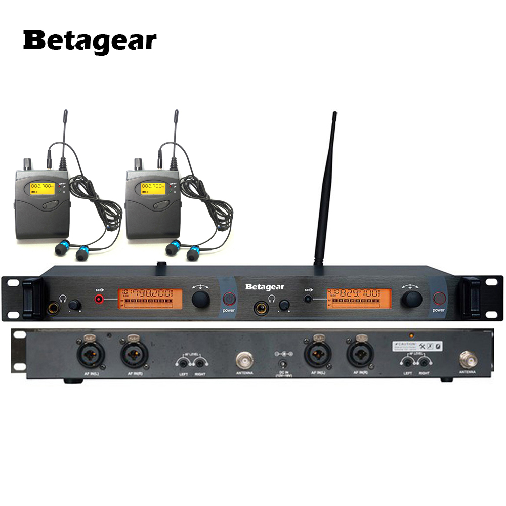 betagear 2 receiver sr2050 wireless in ear monitor stage monitor system earphone monitor. Black Bedroom Furniture Sets. Home Design Ideas