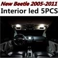 5 unids X envío gratis Free Error Kit de LED Luz Interior Paquete para VW New Beetle accesorios 2005-2011