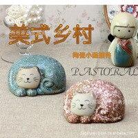 Śliczne zauważył kot Boże Narodzenie prezenty rzemiosło ceramiczne ozdoby hurtową
