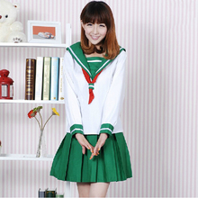 Inuyasha Moneca Stori Cosplay marinero falda estilo de japón Lolita uniforme escolar la muchacha de las faldas Anime Cosplay Vestidos 2 1