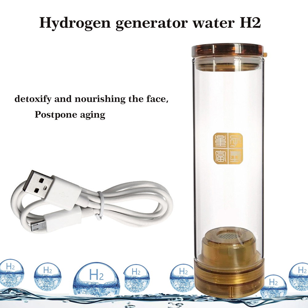 H2 Hydrogen generator water Electrolysis Hydrogen and oxygen separation Hydrogen water bottle/cup 600ML USB Line