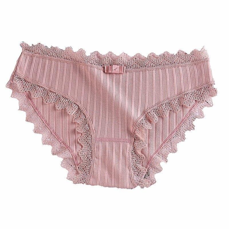 Loneyshow 4 Pcs Per Set Femme Cotton Comfortable Soft Breathable Woman Briefs Patchwork Skinny Mid Waist Seamless Briefs