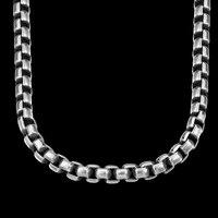 Seanuo 7 MM * 60 CM Schwere Edelstahl Platz Gliederkette Choker Halskette Für Männer Mode Punk Hiphop Gothic männlichen Biker Halsketten
