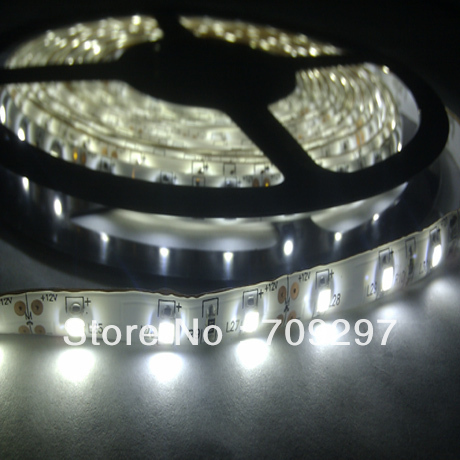 5m 300LED 3528 SMD waterproof 12V flexible light 60led/m LED strip, white/warm white/blue/green/red/yellow/RGB + free shipping