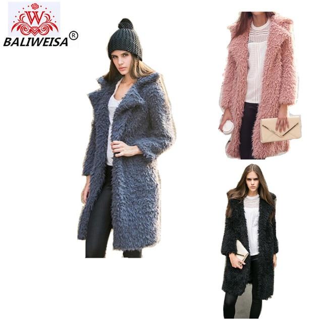 Winterjas Dames 2019 Wol.Baliweisa 2019 Nieuwe Winter Warme Jas Vrouwen Grijs Zwart Roze