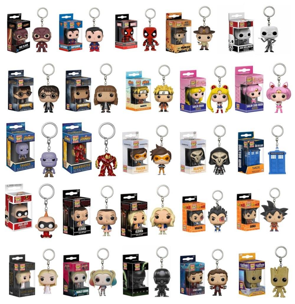 41-models-original-funko-pocket-pop-keychain-toys-font-b-avengers-b-font-spider-captain-superman-batman-wonder-woman-christmas-present-gifts