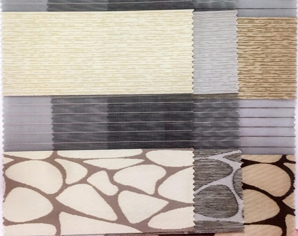 Китайский поставщик качества двухслойные роликовые зебровые шторы