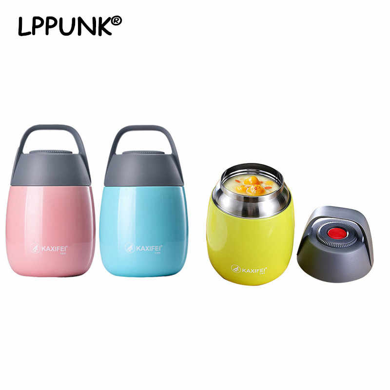 450ml Vacuum Insulated Lunch Box Keep Food Warm Leakproof Containers Stainless Steel Thermal Food jar With Carriers Handle Bag