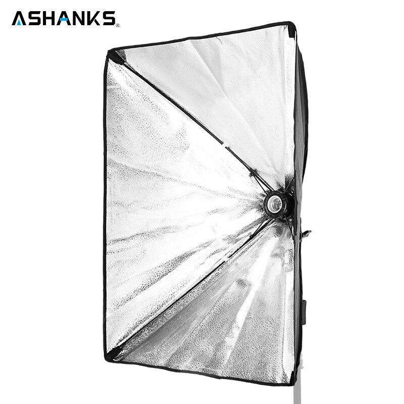 ASHNAKS Softbox Light Kit 50x70cm Photo Studio Tent with Single Lamp Holder for E27 Continuous Lighting Photographic Equipment