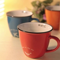 Niêm Yết mới! đơn giản và Đáng Yêu Pinkycolor Cà Phê Mug Set Ăn Sáng Cốc Mug Gốm với năm Màu Sắc