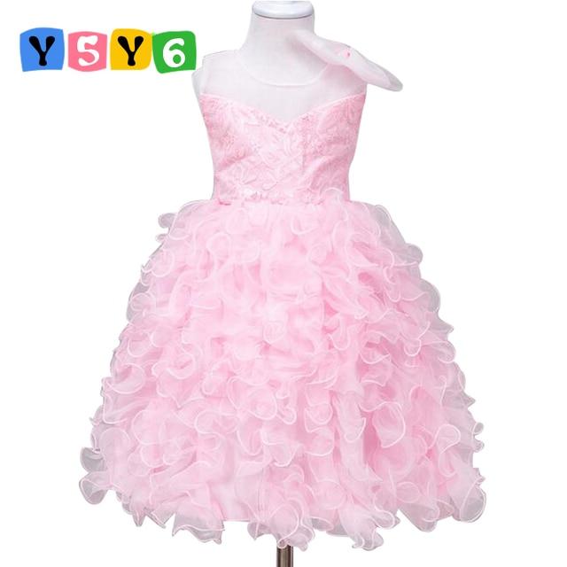 ce7a6621f584 Bambino di marca Della Ragazza Dei Bambini del Vestito Vestiti Per Bambini  Per Girls2 4 6