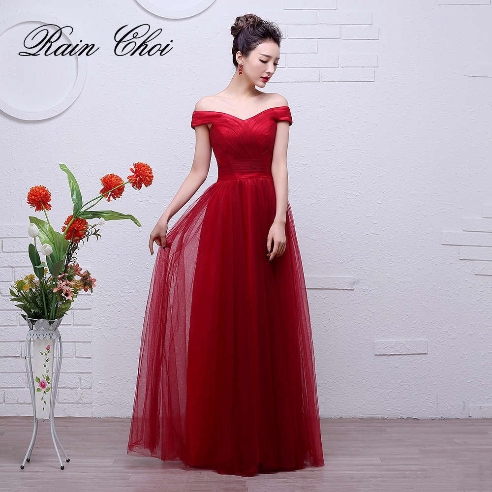 Bridesmaid Dresses Long 2019 Women Tulle Formal Gowns Cheap Wedding Party Dress