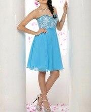 Sexy blaue spitze prom dress plus dize schatz backless immer ziemlich Kurz Partei Cocktailkleider Vestido De Festa Curto De Luxo
