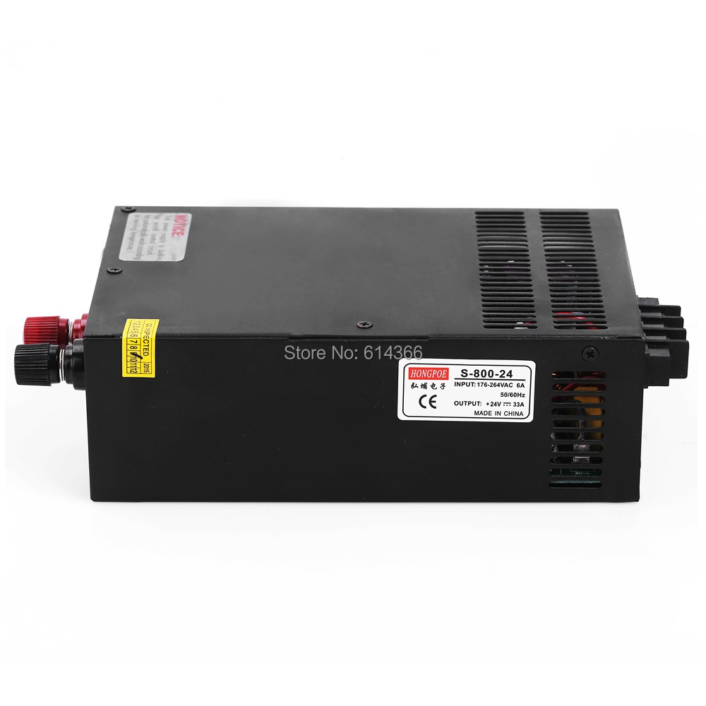 5pcs Industrial grade power supply 800W 24V Power Supply 24V 33A AC-DC High-Power PSU 800W  S-800-24 industrial grade 500w 24v power supply 24v 20a ac dc high power psu 500w dc24v