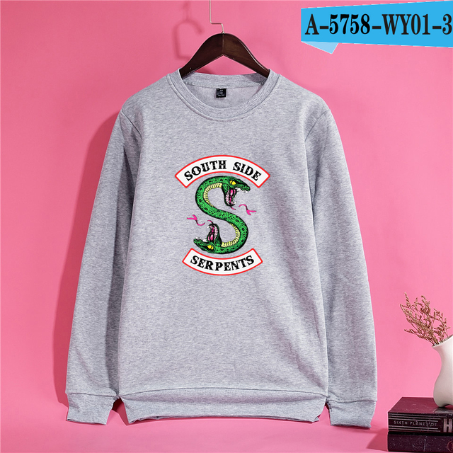 Riverdale Sweatshirt Women Oversize Sweatshirt Comfortable O Neck Ladies Streetwear Tops Tracksuit Loose Hoodie Sweatshirt