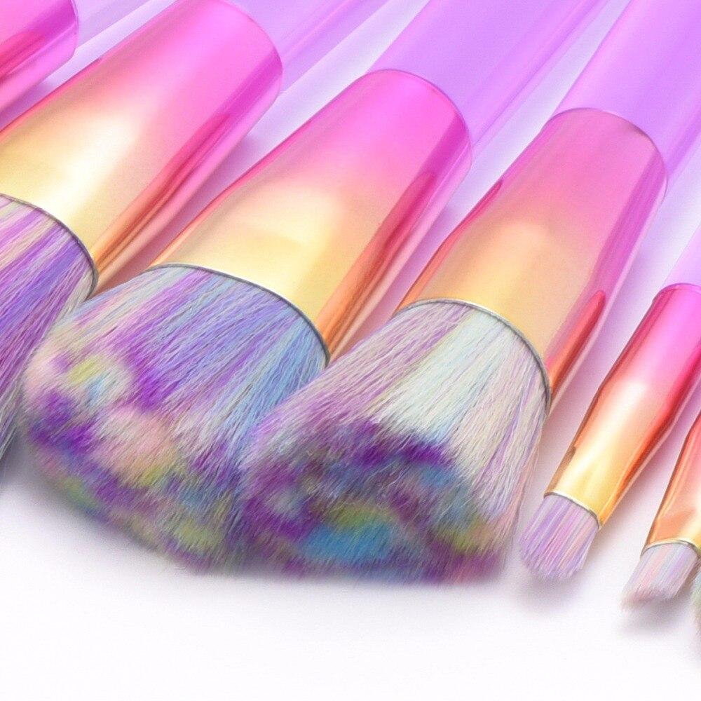 Pro 10pcs Makeup Brushes Set Powder Foundation Eyeshadow Make Up Brushes Cosmetics Soft Synthetic Hair With PU Leather Case mac splash and last pro longwear powder устойчивая компактная пудра dark tan