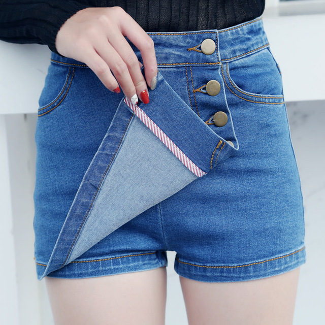 a4f30e5adbb70 Denim Shorts Femmes Jeans Courts Sexy D été Femme Bleu Mini Short Feminino  Jeans Casual