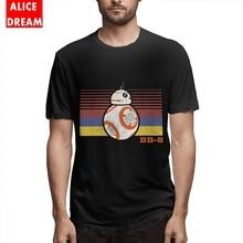 цена на T shirt Star wars BB-8 Stripes Tee Shirt Boy Fashion T-Shirt O-neck Big Size Homme Tee Shirt Casual Slim fit T shirt