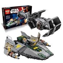 722Pcs 05030 LEPIN Star Wars Vader Tie Advanced VS A wing Starfighter 75150 Building Blocks Compatible